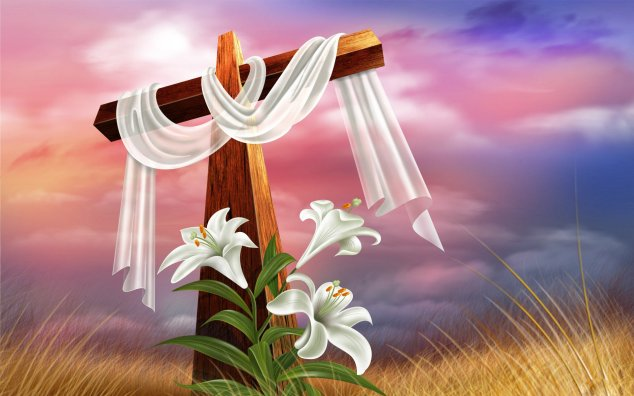 Cross-With-Flowers-HD-Wallpaper