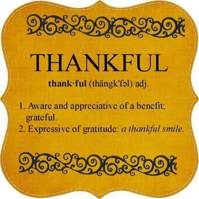 thankful defined